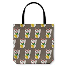 Gear New Tote Bag, Shoulder Tote, Hand Bag, Lucky Cats Pattern