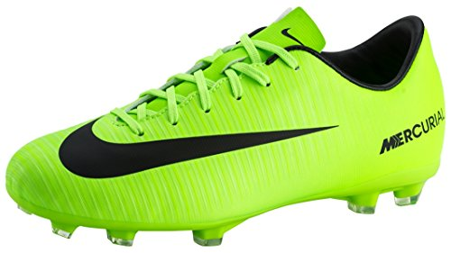 Nike Jr. Mercurial Victory VI FG Soccer Cleat (4) Electric Green ()