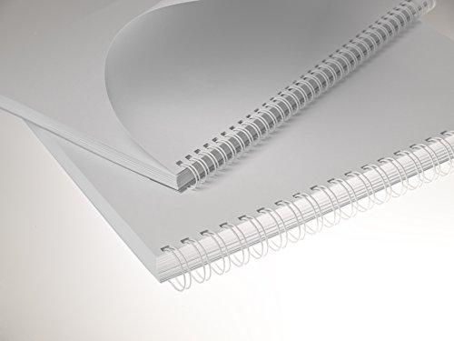 Renz One Pitch Drahtkamm-Bindeelemente in 2:1 Teilung, 23 Schlaufen, Durchmesser 8.0 mm, 5/16 Zoll, weiß