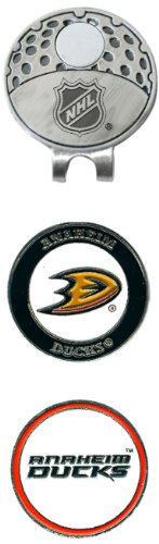 Team Golf NHL Anaheim Ducks Golf Cap Clip with 2 Removable Double-Sided Enamel Magnetic Ball Markers, Attaches Easily to Hats -