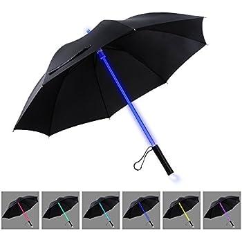 YIER LED Umbrella Lightsaber Light Up Umbrella   7 Color Changing   Golf Umbrellas   Umbrella Windproof   Umbrella Kids Men