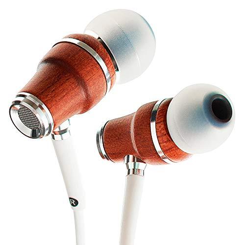 Symphonized NRG X Houten Oordopjes met Draag en Microfoon, Stereo In-Ear Koptelefoon voor Samsung en Huawei…