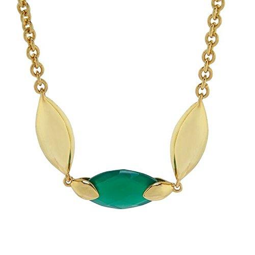 Hera Long Collier en Pierres Semi-Précieuses Onyx vert