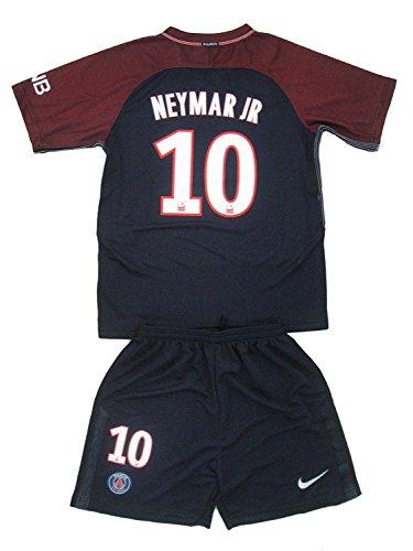 2017/18 Paris Saint-Germain F.C. NEYMAR JR #10 Home Youths Football Soccer Kids Jersey & Short … (9-10 Years Old)