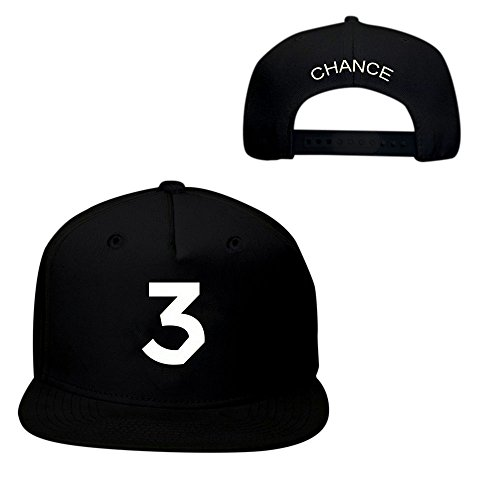 New Chance 3 Hat Cap The Rapper – Adjustable SnapBack (Black W/ Wht)