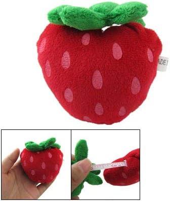 Aexit Cinta métrica suave en forma de fresa roja con forma de ...