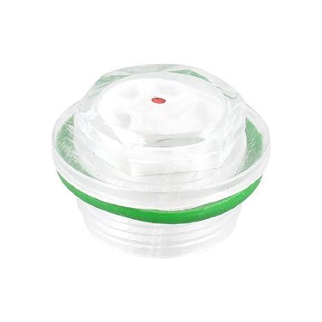 27mm DealMux verde arandela de goma plástica clara del nivel de aceite Mirilla para el compresor de aire: Amazon.es: Bricolaje y herramientas