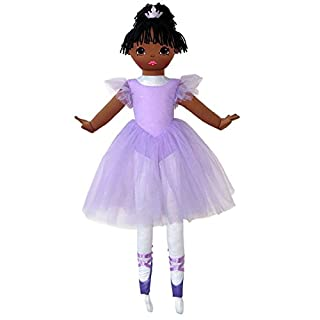 "Anico Well Made Play Doll For Children La Bella Ballerina, African American, 36"" Tall, Lavender"