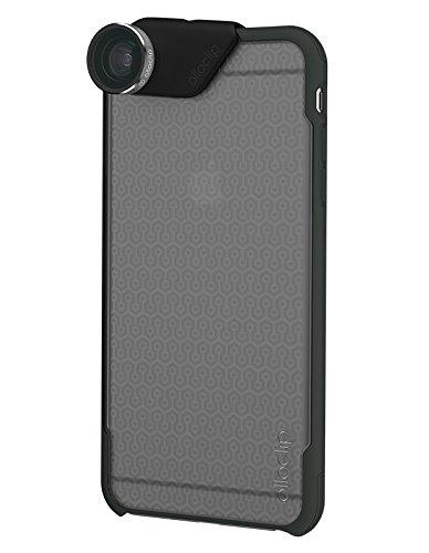 Olloclip Custodia con Set Lenti 4 in 1 Fisheye/Grandangolo/2 Macro con OlloCase per iPhone 6/6S, Nero