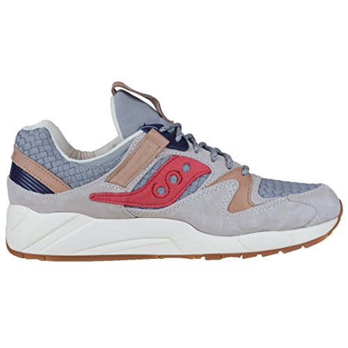 Saucony Sneakers Grid 9000 The Liberty Pack Suède Grau Grigio/rosso