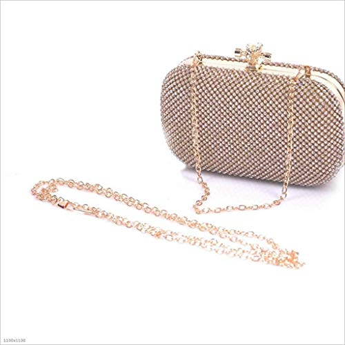 Diamantes Clutch Silver Con color Gold Suave Imitación Bolso Dorado De Sky Diamantes grow Noche w7tIqPE