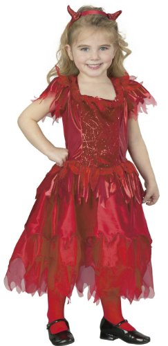 Child's Girl's Toddler Devil Dress Halloween Costume (Size: 2T-4T) -