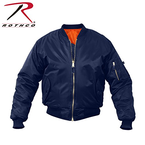 Navy Blue Flight Jacket - 8