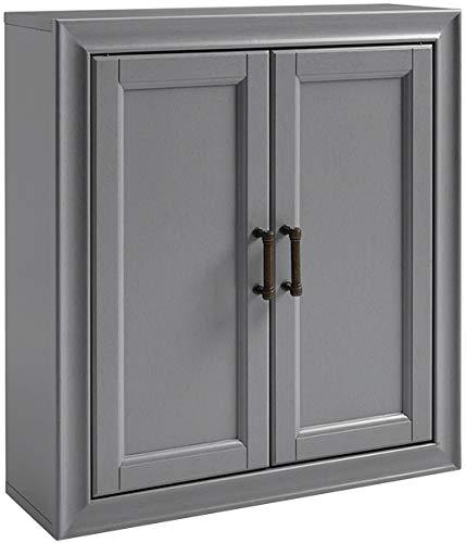 (Crosley Furniture CF7012-GY Tara Bathroom Wall Cabinet, Vintage Gray)