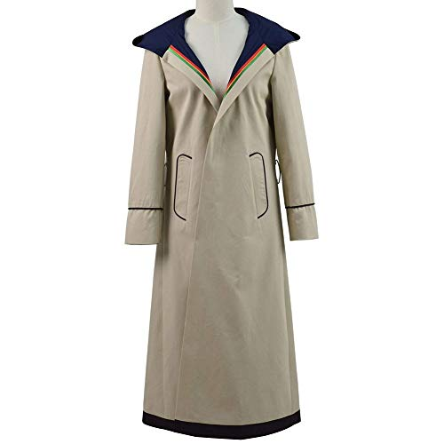 (PONGONE Doctor Who 13th Cosplay Costume Long Trench Coat Shirt Pants Suits Full Uniform)