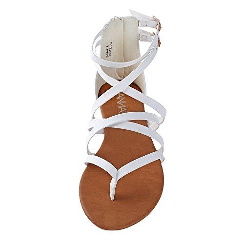Bella Shoes Bella Anna 4 White Womens Inca Marie Marie Strappy 5SBgwBq