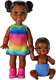 Barbie Skipper Babysitters Inc. Dolls, 2 Pack of Sibling Dolls Includes Small Toddler Doll and Baby Doll Figur
