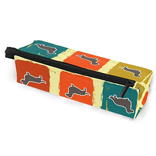 KEAKIA Dachshunds Pencil Case Zipper Eyeglasses Case Sunglasses Pouch Cosmetic Bags with Hanging - Eyeglass Holder Dachshund