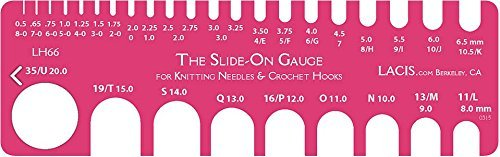 - Lacis Slide On Knitting And Crochet Gauge 8-0 To 35