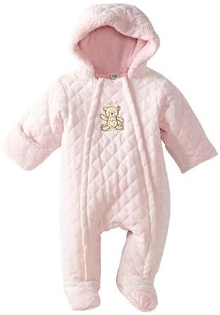 Little Me Baby-Girls Newborn Bear Pram, Light Pink, 3-6 Months