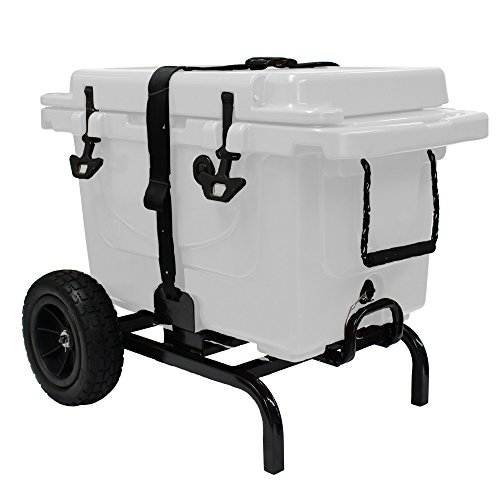 Cabelas Cooler (Garden Star 70135 Universal Fit Cooler Cart, Black)