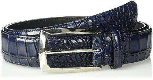 Stacy Adams Men's Ozzie Croc Embossed Belt, blue, 40