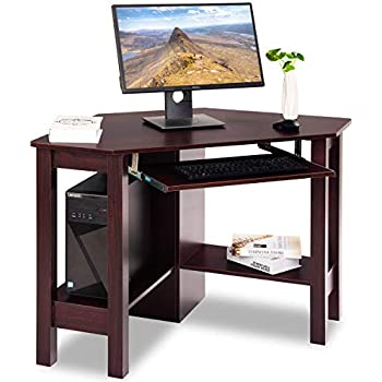 Amazon Com Southern Enterprises Corner Computer Desk 48