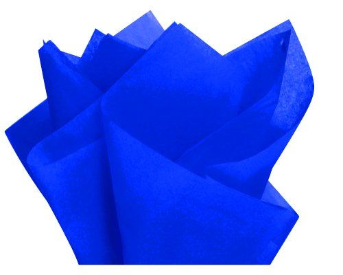 Cakesupplyshop Packaged Bulk Royal Blue Gift Wrap Pom Pom Tissue Paper- 100sheets 15x20inches