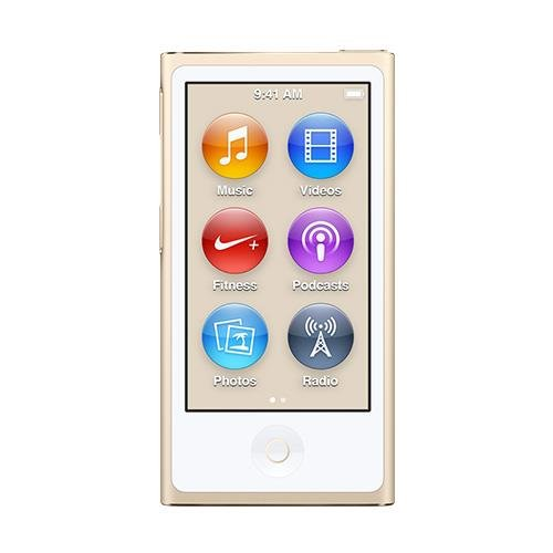 Apple iPod Nano 16GB Gold (8th Generation) MKMX2LL/A (Certified Refurbished) (Nano White Ipod)