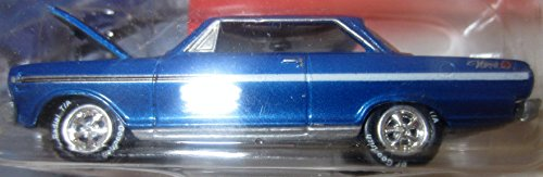Super Chevy 1963 Blue Nova SS with Real Wheels Rubber Tires and Cragar Mags in 1:64 Scale