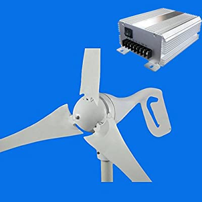 GTSUN 400W MAX 600W DC 24V Wind Turbine Generator 3 Blades Carbon Fiber With Wind Solar Hybrid Charge Controller,New