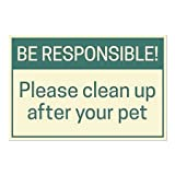 CGSignLab | ''Be Responsible!'' Repositionable Opaque White 1st Surface Static-Cling Non-Adhesive Window Decal (5-Pack) | 30''x20''