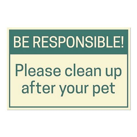 CGSignLab | ''Be Responsible!'' Repositionable Opaque White 1st Surface Static-Cling Non-Adhesive Window Decal (5-Pack) | 30''x20'' by CGSignLab