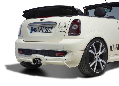 Mini Cooper S Cabriolet by AC Schnitzer (2009) Car Art Poster Print on 10 mil Archival Satin Paper White Rear Closeup Studio View 36