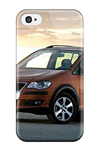 Protective Tpu Case With Fashion Design For Iphone 4/4s (2007 Volkswagen Crosstouran)