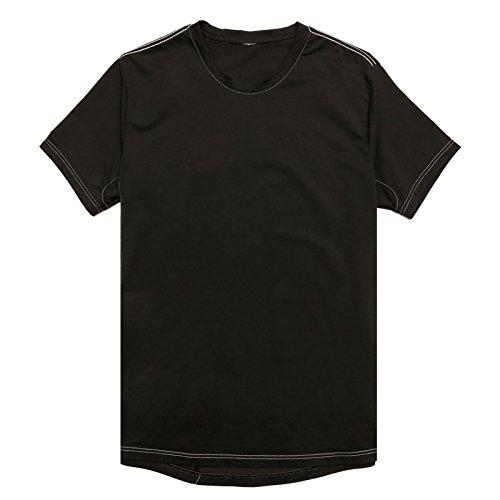 Levis Mens Commuter Athletic Crew Neck T-Shirt (Black, Large)