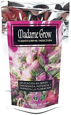 MADAME GROW Fertilizantes de Cannabis Floración - INDUCCIÓN DE Karma - Estimula la producción de cogollos - 50 L de Riego - (30 Gramos)