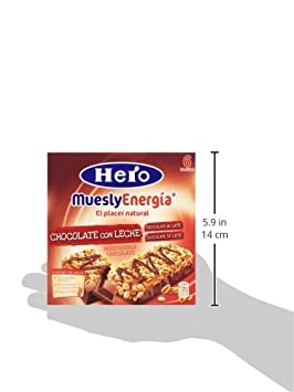 Hero Muesly Energia Barritas de Chocolate - Pack de 6 x 25 g - Total: 150 g: Amazon.es: Amazon Pantry