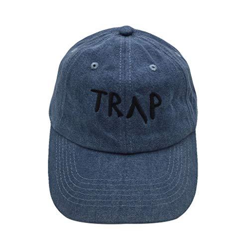 Guangping Liu Dad Hat Men's Baseball Cap Trap Embroidered Adjustable Strapback Cotton hat (Denim-1)