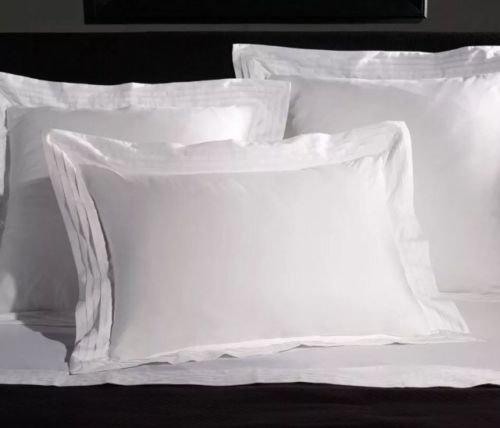 (Ralph Lauren Home Tuxedo Pleated Edge Pillow Sham - White - Standard)