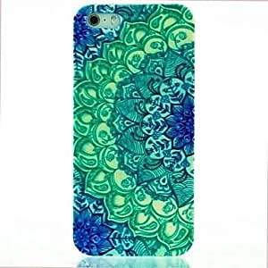 QHY Green Mandala Pattern Hard Case for iPhone 5/5S