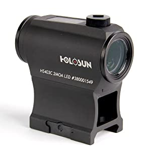 7. HOLOSUN HS403C Solar Power Micro Red Dot Sight, Black