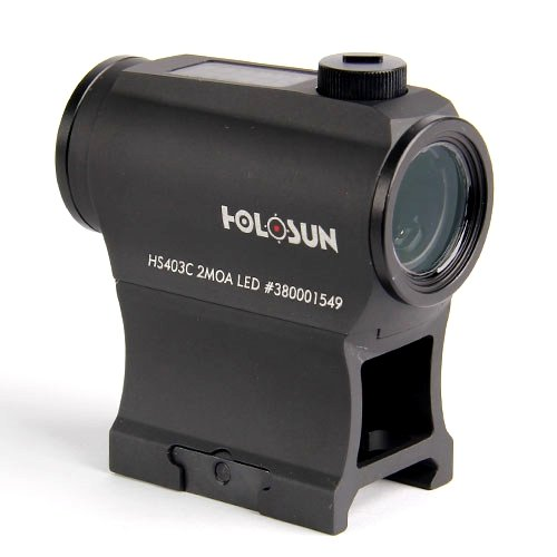 HOLOSUN HS403C Solar Power Micro Red Dot Sight, Black by HOLOSUN