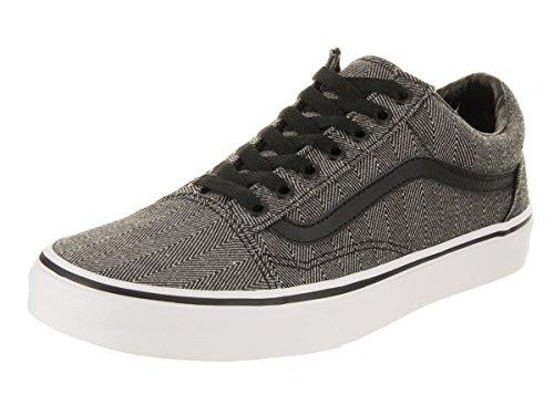 Vans Unisex Old Skool (Oversized Herringbone) Black Herringbone Skate Shoe 8.5 Men US/10 Women US by Vans