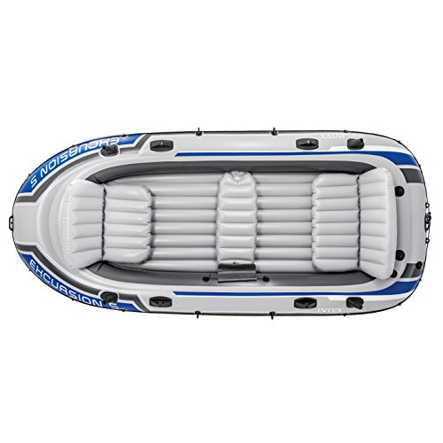 Intex Excursion 5, 5-Person Inflatable Boat Set with Aluminum Oars and High Output Air Pump (Latest Model) by Intex (Image #2)