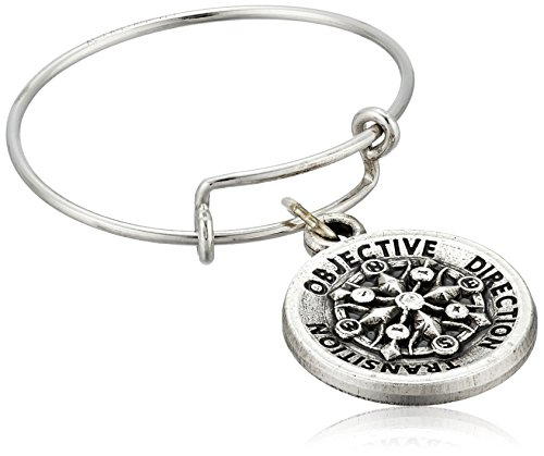 Alex And Ani Compass Expandable Rafaelian Silver Stackable Ring, Size 7-9