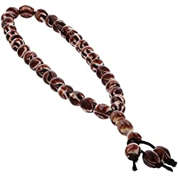 33 Count Islamic Brown and White Rosary Prayer Bead misbaha