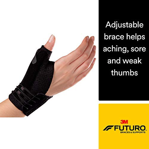 Futuro Deluxe Thumb Stabilizer, Moderate Stabilizing Support, Small/Medium, Black ()