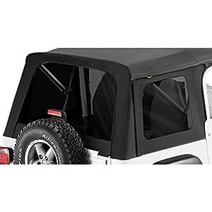 Bestop 58599-15 Black Denim Tinted Window Kit for Bestop Supertop, 76-95 CJ7 and Wrangler YJ