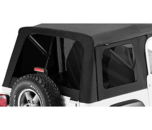 Black Denim Tinted Window - Bestop 58599-15 Black Denim Tinted Window Kit for Supertop for 1976-1995 CJ7 and Wrangler YJ